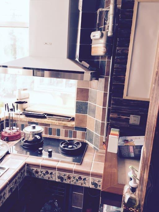 敞开式厨房一角,享受您的cooking time