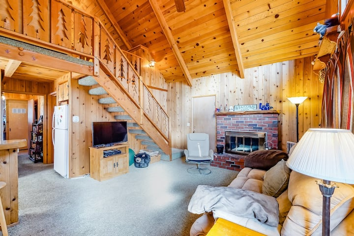 Beautiful cabin w/ large deck, gas grill & wood-burning fireplace - dogs welcome
