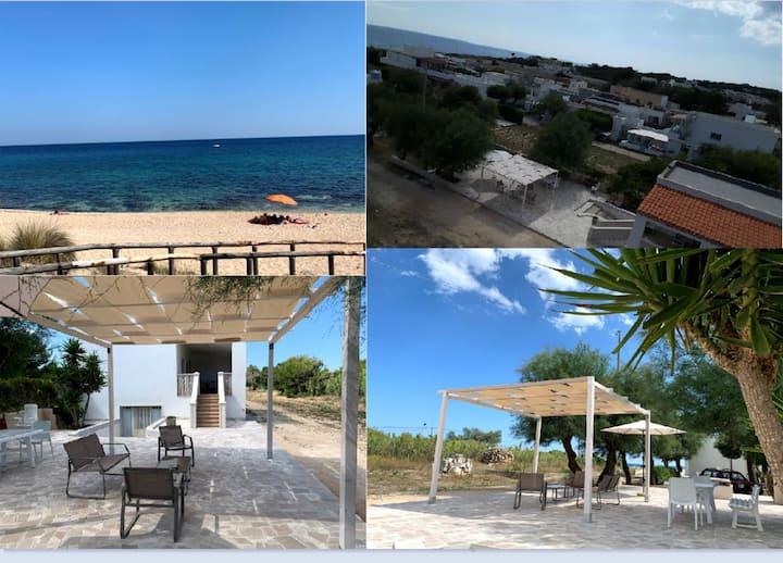 Villa sul mare a Maruggio bandiera blu 2020