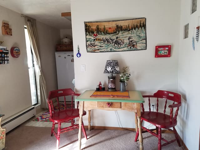 Small dining table in common area