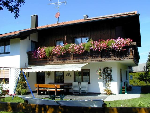 Charming Holiday Apartment Kampenwand with Mountain View, Wi-Fi & Balcony; Parking Available
