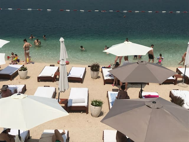 Beach close to Tivat (12 minutes by car or bus)