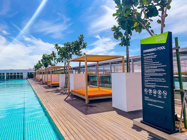 #3B| 2BR Suite @ Sutera Avenue KK w/Infinity Pool
