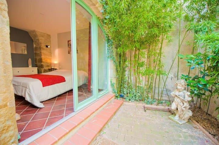 Chambre privée avec salle de bain et terrasse !