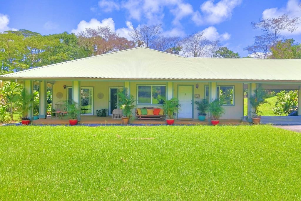Lanipuna Gardens Getaway Lava Viewing Nearby Houses For Rent In P Hoa Hawaii United States