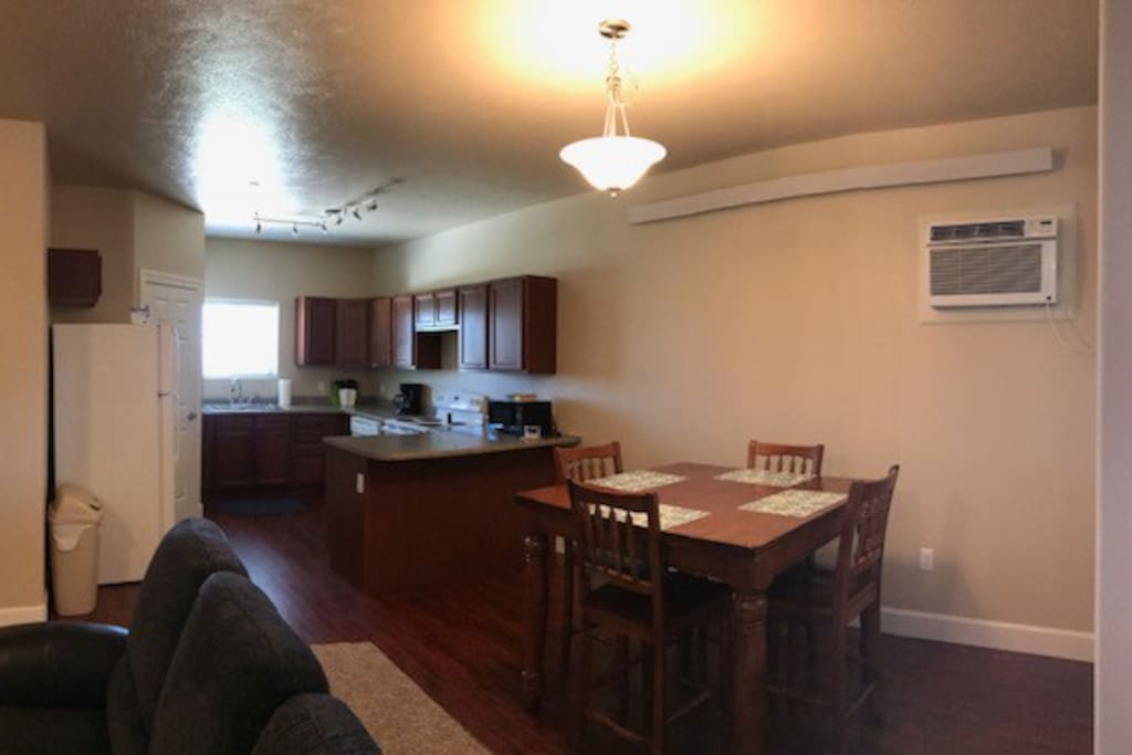 This is the dining and kitchen with a walk-in pantry.