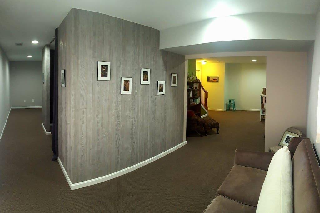 Private, comfortable lounge area