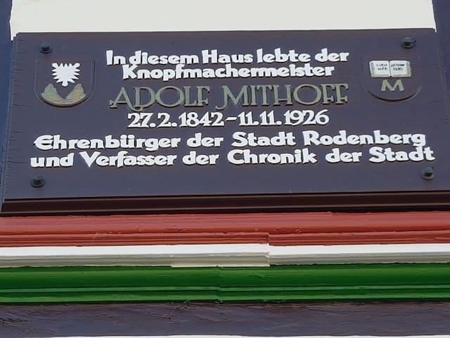 Hier lebte der Verfasser der Chronik von Rodenberg