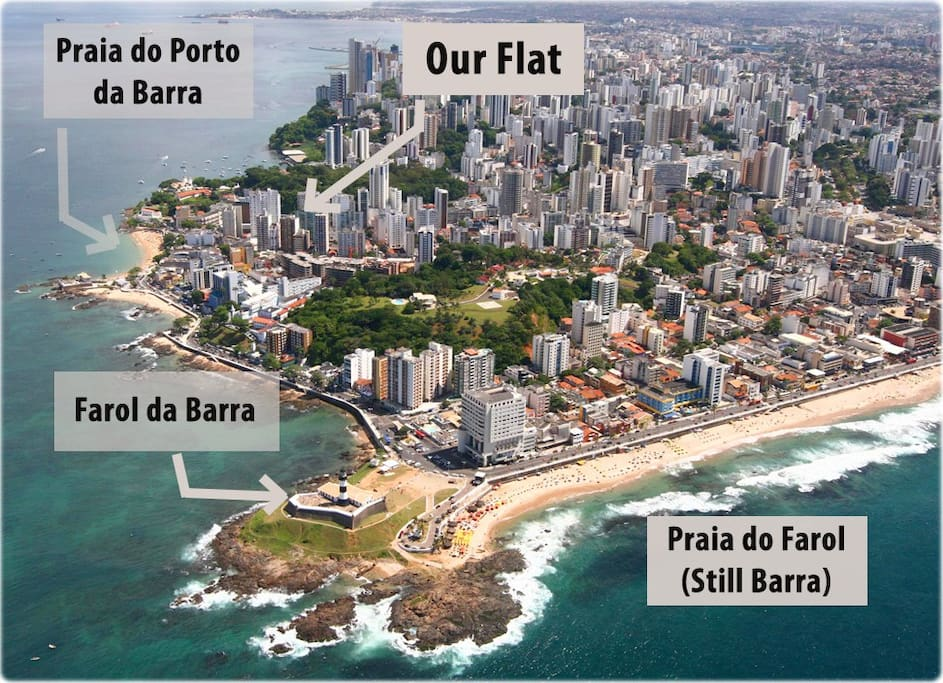 The location is amazing, next to the best beaches of Salvador - also the safest area!