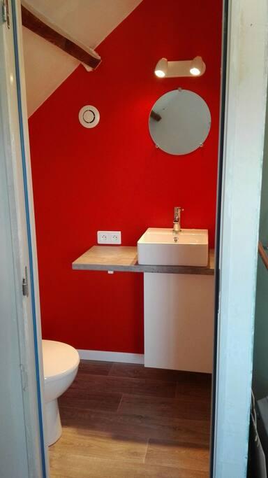 Cabinet de toilette : lavabo