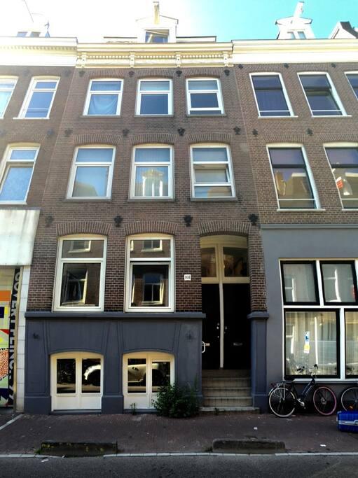 The apartment in the  vibrant area: de Pijp.