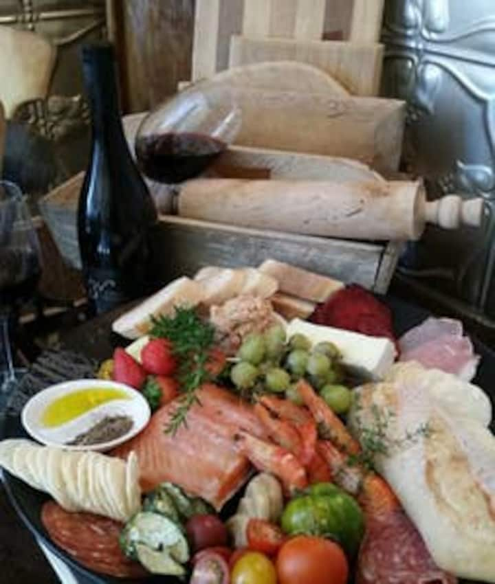 Spa, bed,  breakfast, and gourmet  platter