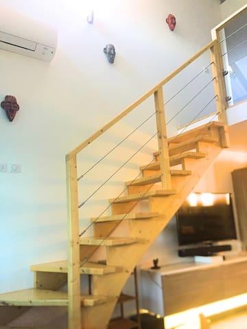 Bel appartement F2 bien équipé, accès à la plage - Pointe-à-Pitre - Leilighet