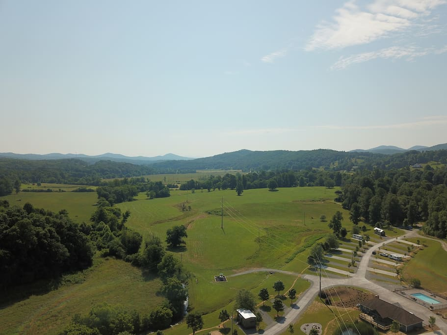 Enjoy the view of the Blue Ridge mountains from Lot 25 at Waterside
