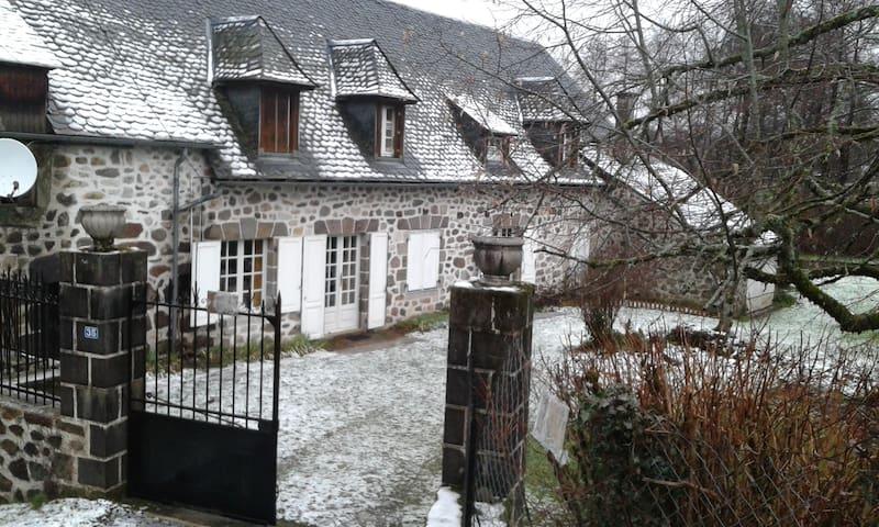 Ancien moulin à eau, typique et spacieux. - Thiézac - House