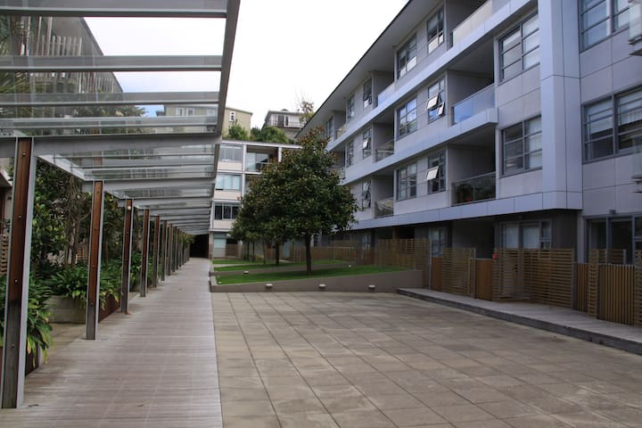 Apartment complex - secure and quiet with landscaped grounds