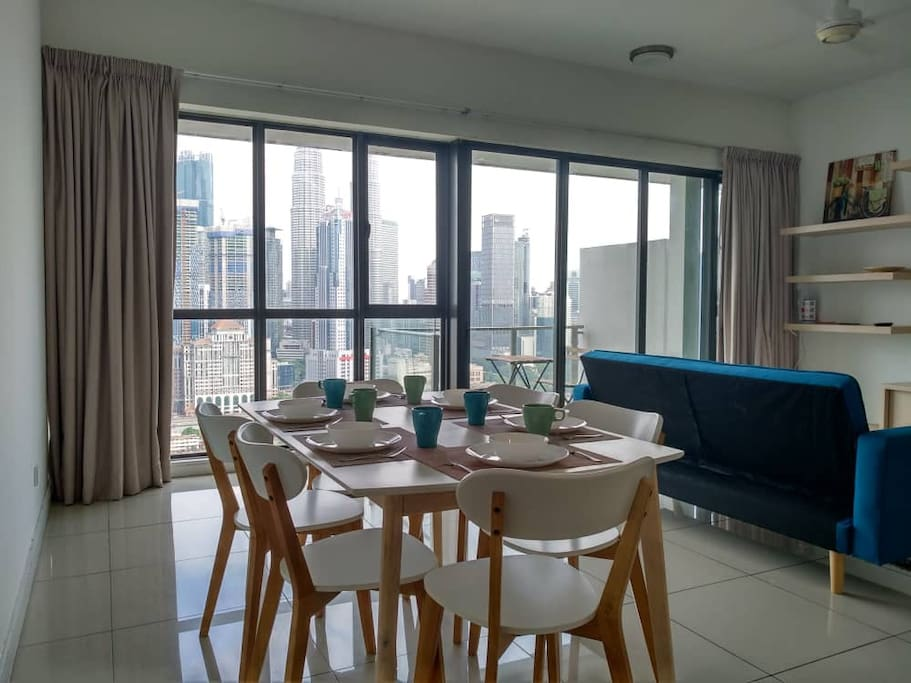 Cozy Living Hall with KLCC view