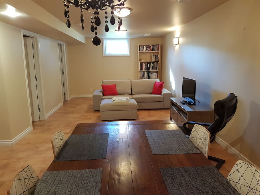 A large living and dining area gives you the comfort and freedom to move around!