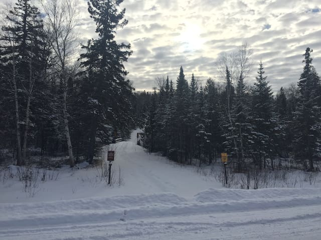 Easy access to the snowmobile trail - less than a mile away!