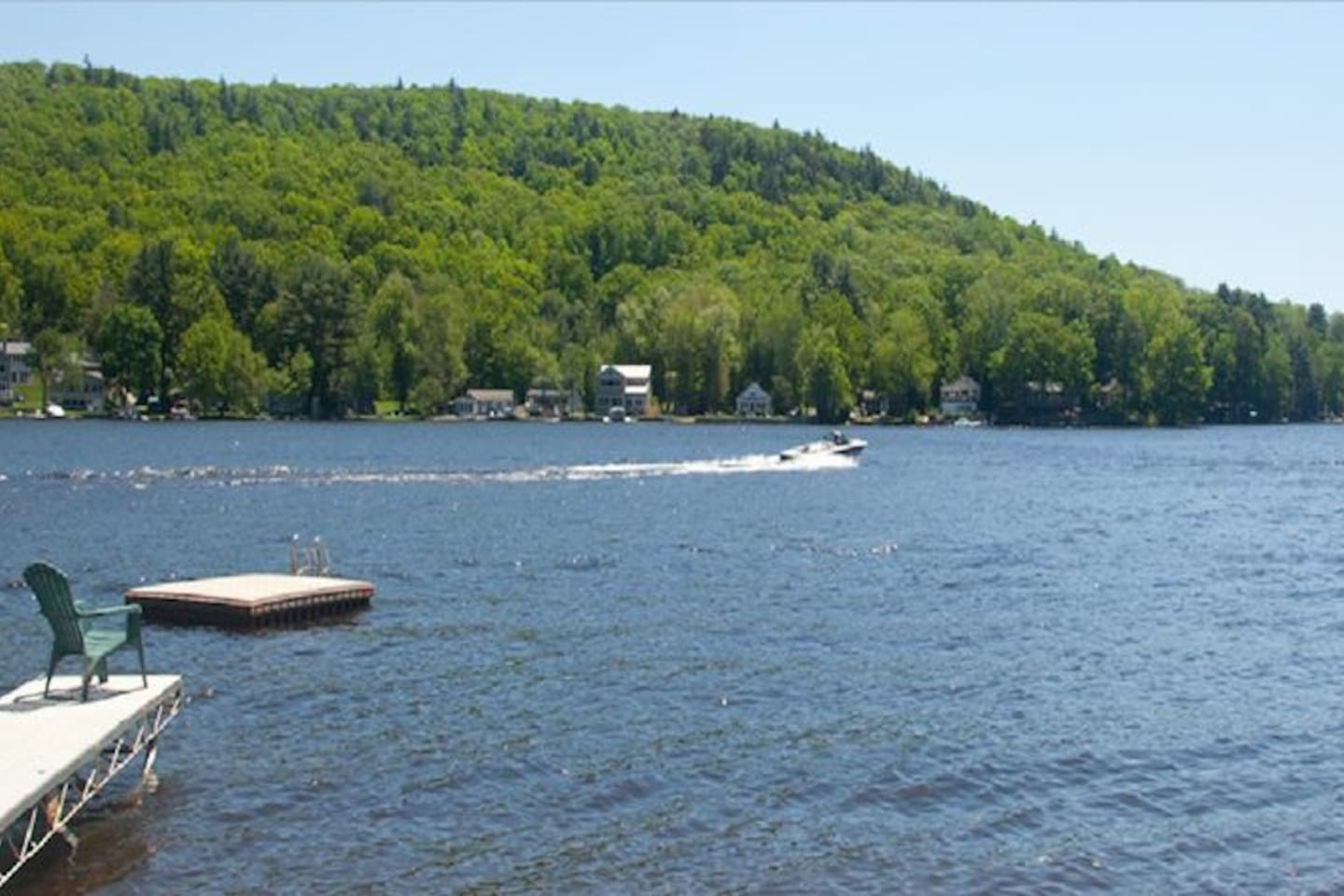 Fully recreational lake. Our property has plenty of dock space and non motorized boats to enjoy it!
