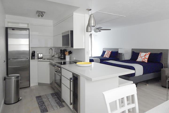 Unit #3 Gorgeous Modern Kitchen with Wine Chiller