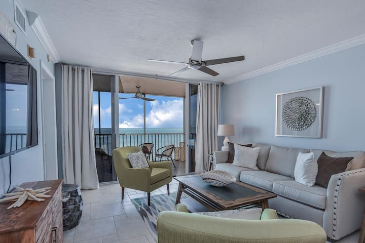 Welcome to Beach Villas # 704 - Updated Top Floor Gulf Front & Sunsets