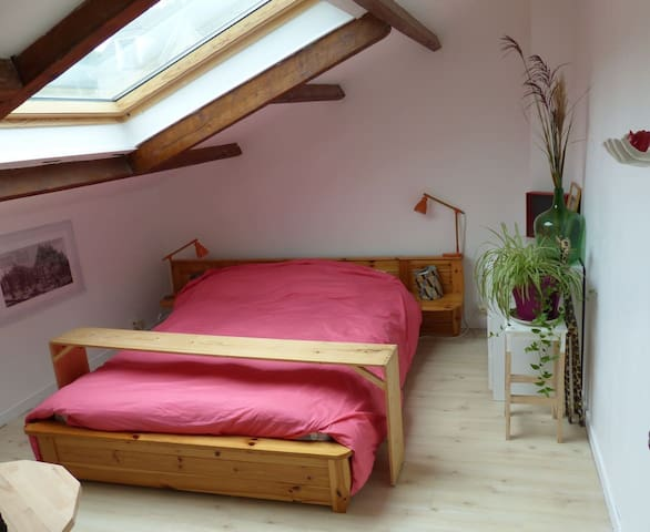nice house with fire place and room with sky view - Corbeil-Essonnes - House