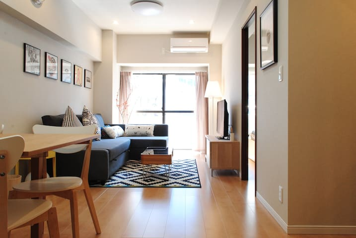 Bright & beautiful 3 mins to Ebisu - Shibuya-ku - Apartamento