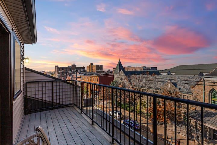 Lancaster City Studio with Skyline Views