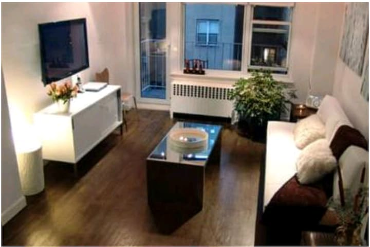 Studio with private entrance near Central Park.