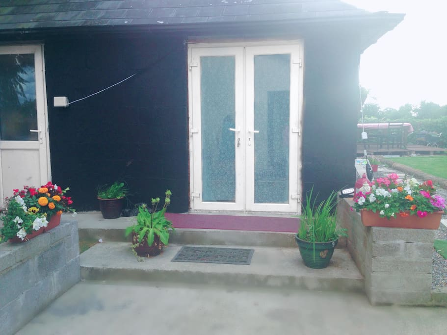 Entrance to bungalow