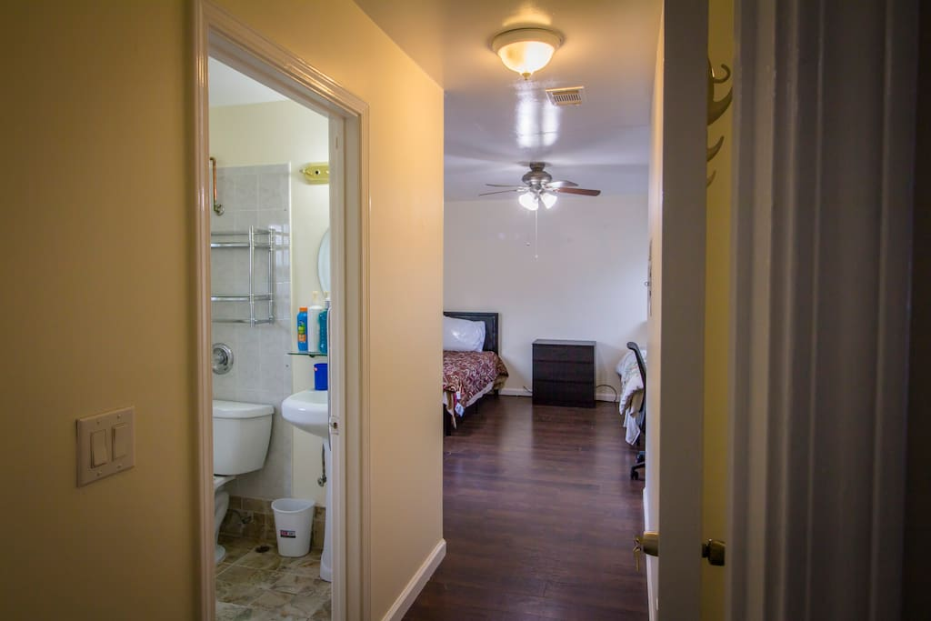 Attached half bath with private