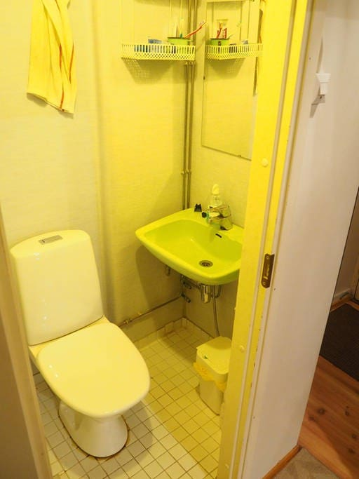 Here is our small bathroom