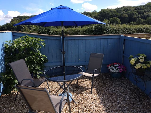 Private outdoor seating area for the sole use of our guests