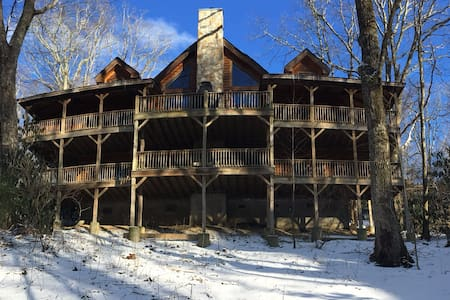 A Luxury Log Home - Spacious & Perfect Location! - Blowing Rock - 小木屋