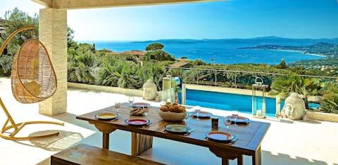 Villa 5*. Sea view. Heated pool. Jacuzzi. Sauna.