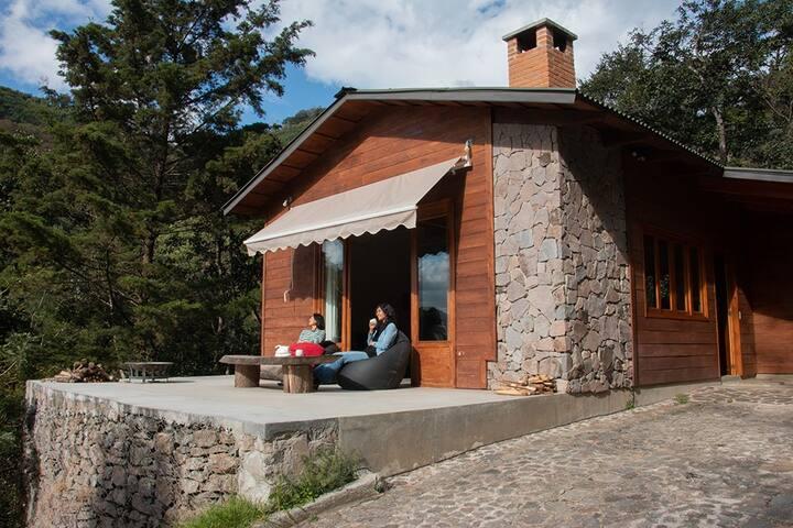 BOSCO ANTIGUA  cabins+sauna in the woods1