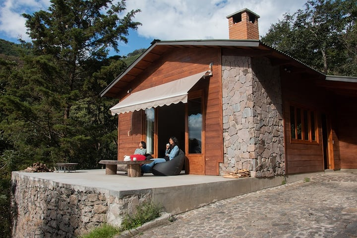 BOSCO ANTIGUA cabins+ sauna in the woods