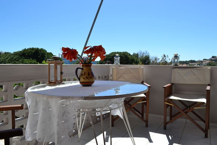 Ideal place for your relax time next to the sea - Sounio - Huis