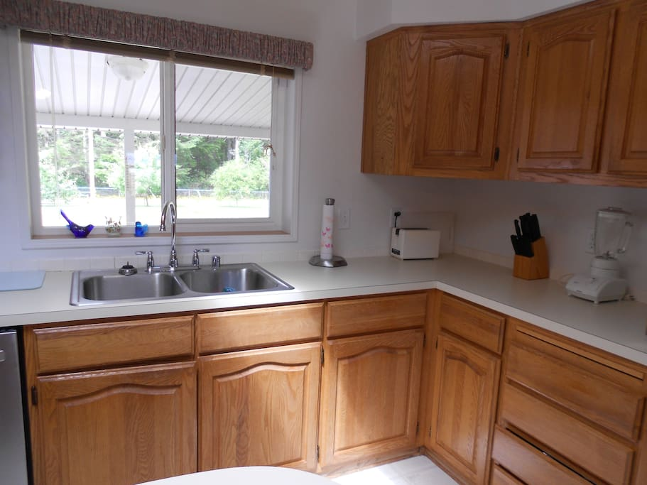 Open kitchen with ammentities