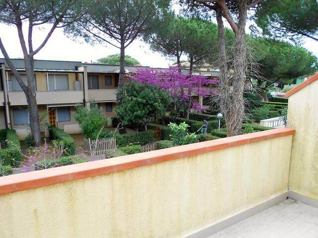 Bilocale case a schiera primo piano con balcone - Marina di Bibbona - Apartemen