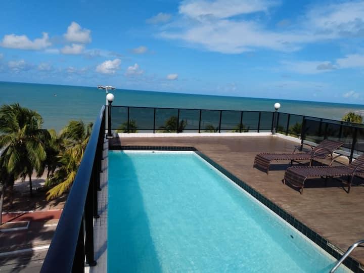 FLAT40 mts. Frente p/o Mar, no Cabo Branco