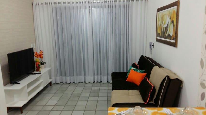 Flat 2 quartos (rooms) 2 banheiros - 70m²