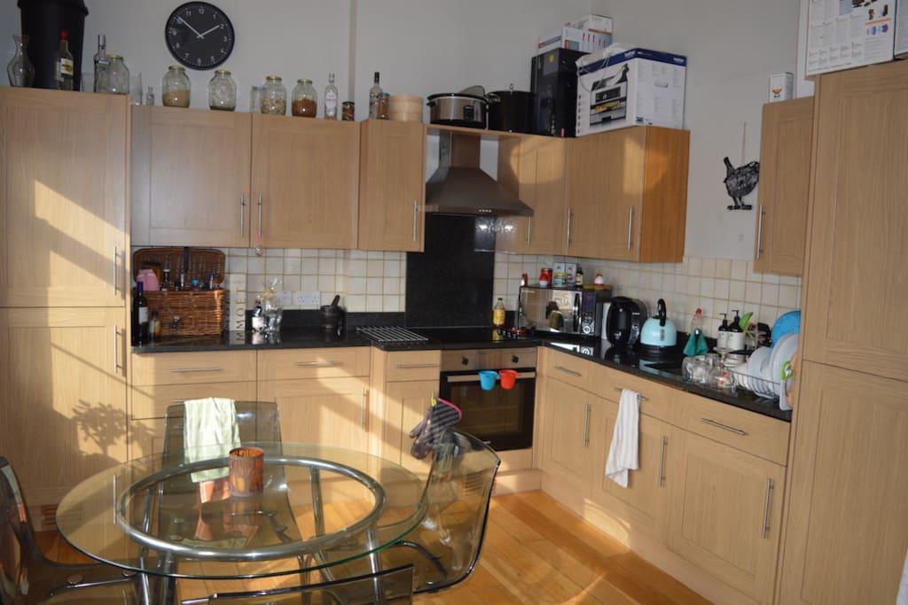 Spacious kitchen/dining area