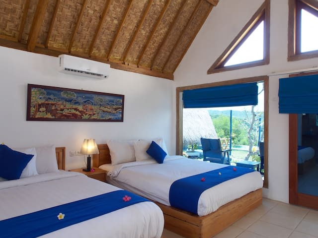 Blue Monkey  Ocean View Room with infinity pool - Pujut - Casa de camp