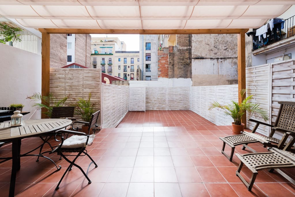 It features a huge private terrace with tons of natural light