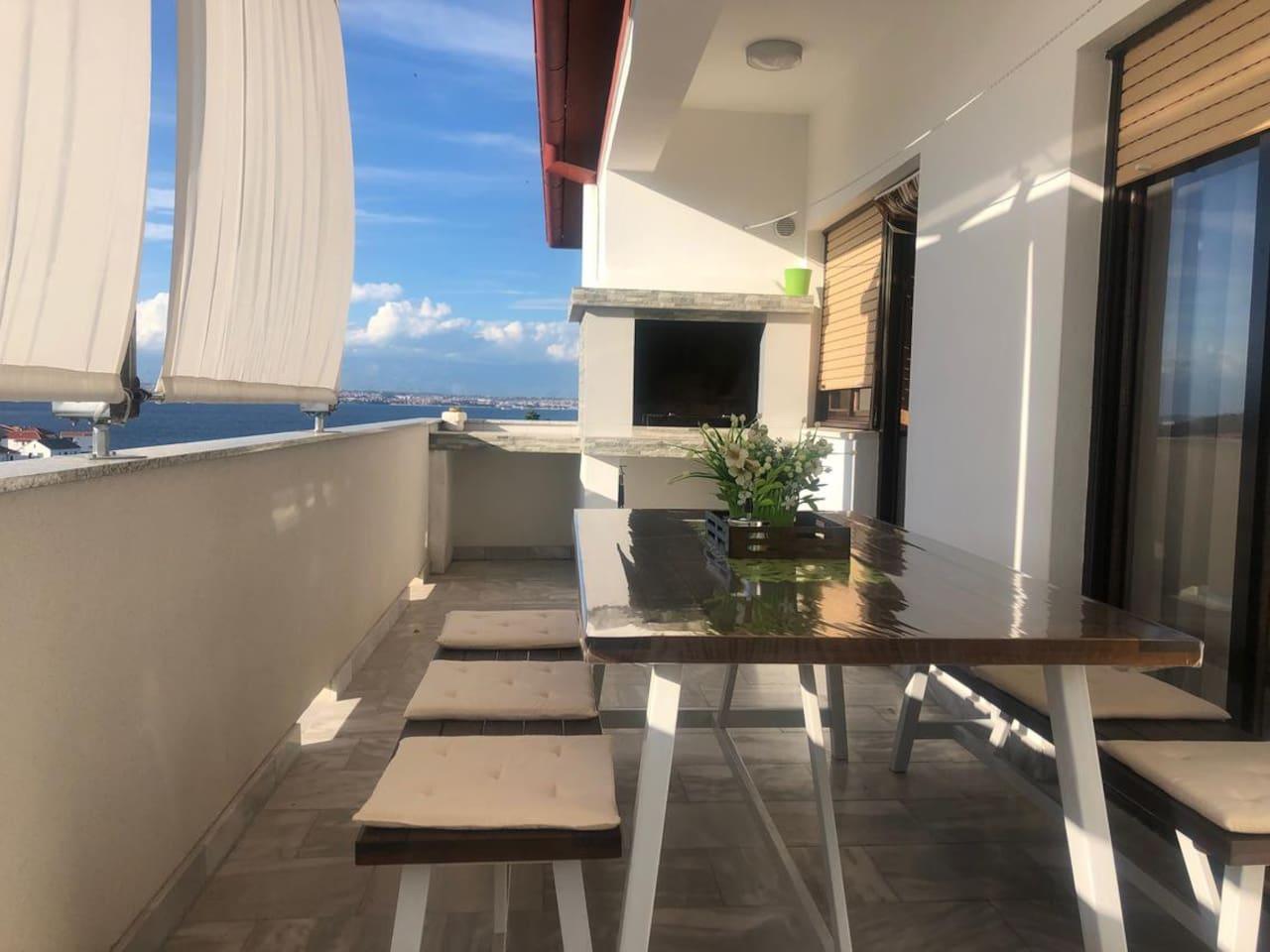 Terrace 1, Surface: 15 m²