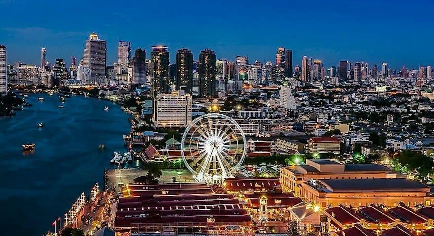 Modern Room in Bangkok Sathorn Near BTS Sky Train - คลองสาน - Byt