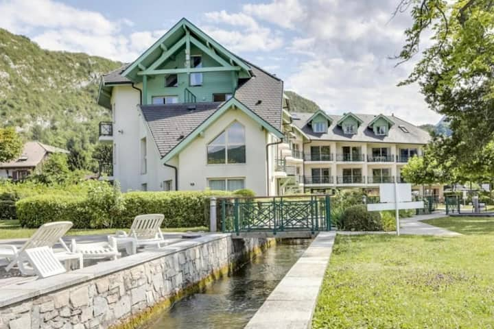 Appartement avec plage privée sur le Lac D'Annecy