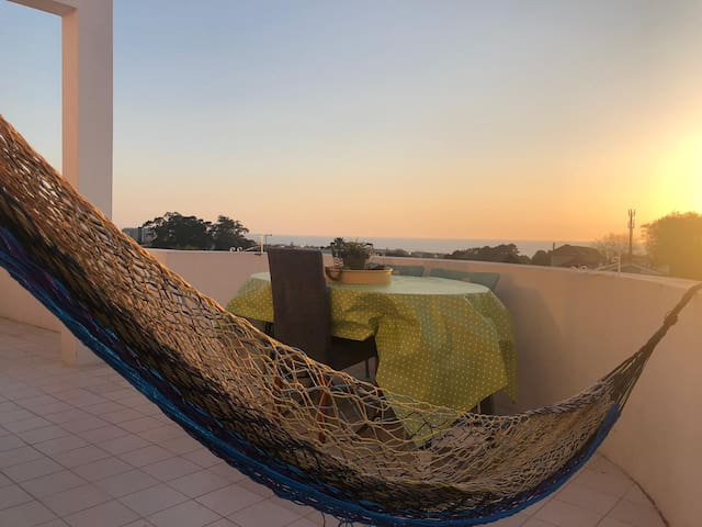 Amazing sunset with ocean views from my balcony...